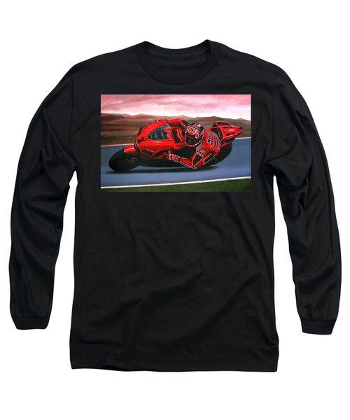 Casey Stoner On Ducati Long Sleeve T-Shirt