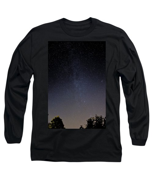 Long Sleeve T-Shirt featuring the photograph Cassiopeia And Andromeda Galaxy 01 by Greg Reed