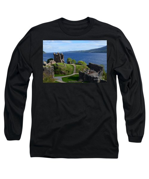 Castle Ruins On Loch Ness Long Sleeve T-Shirt