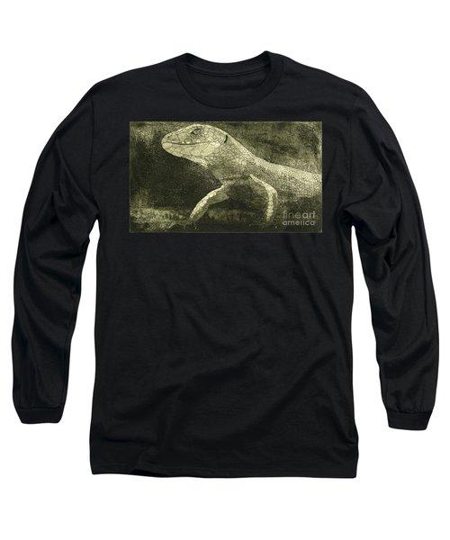 casual meeting Reptile Viviparous Lizard  Lacerta vivipara Long Sleeve T-Shirt