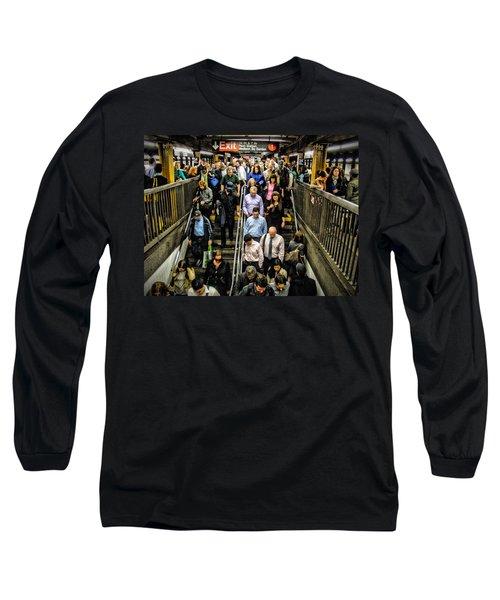 Catching The Subway Long Sleeve T-Shirt