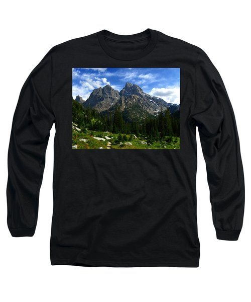 Cathedral Group From The Northwest Long Sleeve T-Shirt by Raymond Salani III