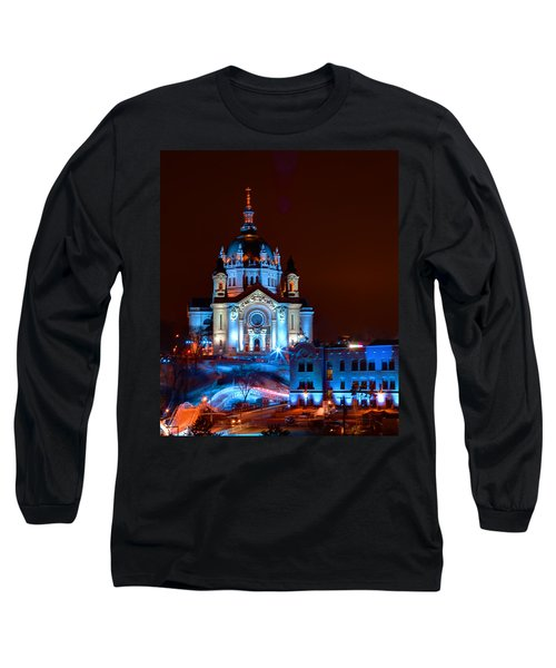 Cathedral Of St Paul All Dressed Up For Red Bull Crashed Ice Long Sleeve T-Shirt