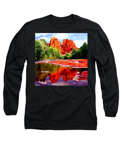 Cathedral Rock Sedona Arizona Long Sleeve T-Shirt
