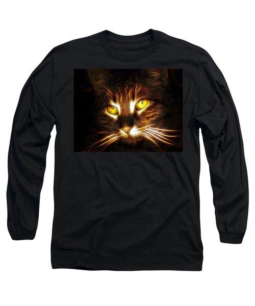 Cat's Eyes - Fractal Long Sleeve T-Shirt