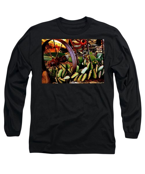 Long Sleeve T-Shirt featuring the photograph Caught In A Cactus Patch-sold by Antonia Citrino