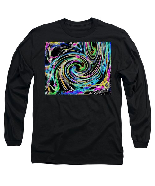 Long Sleeve T-Shirt featuring the painting Celebration Night by Roz Abellera Art