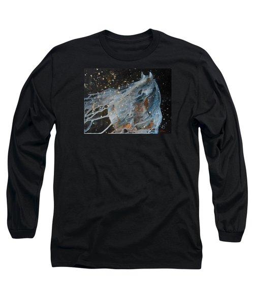Celestial Stallion  Long Sleeve T-Shirt by Jani Freimann