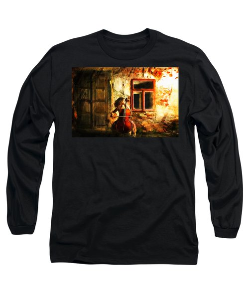 Cellist By Night Long Sleeve T-Shirt