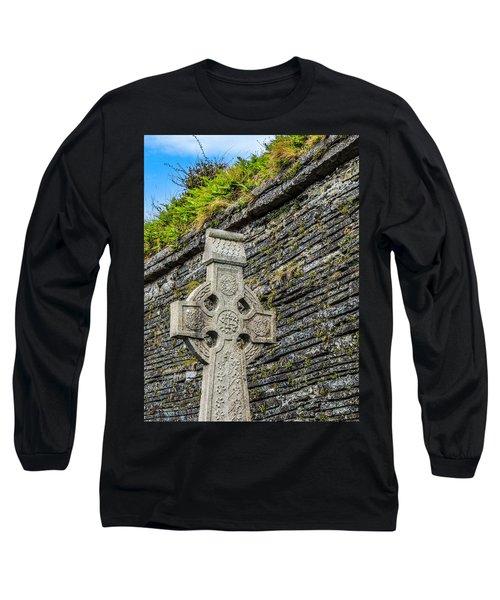 Celtic Cross At Kilmurry-ibrickan Church Long Sleeve T-Shirt