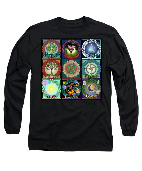Celtic Festivals Calendar Long Sleeve T-Shirt