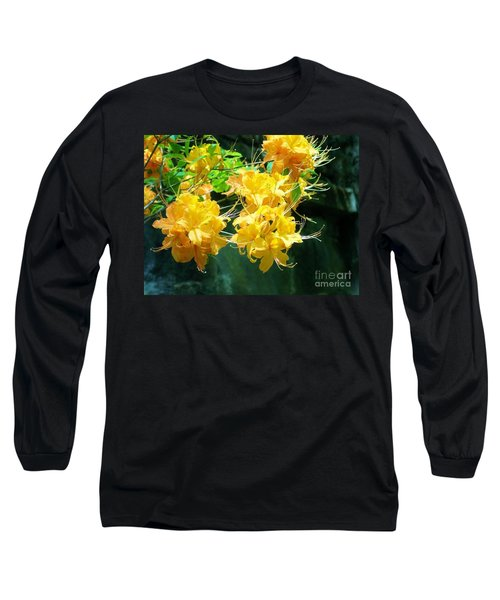 Centered Yellow Floral Long Sleeve T-Shirt