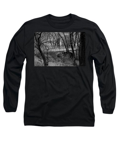 Central Park 2 Black And White Long Sleeve T-Shirt