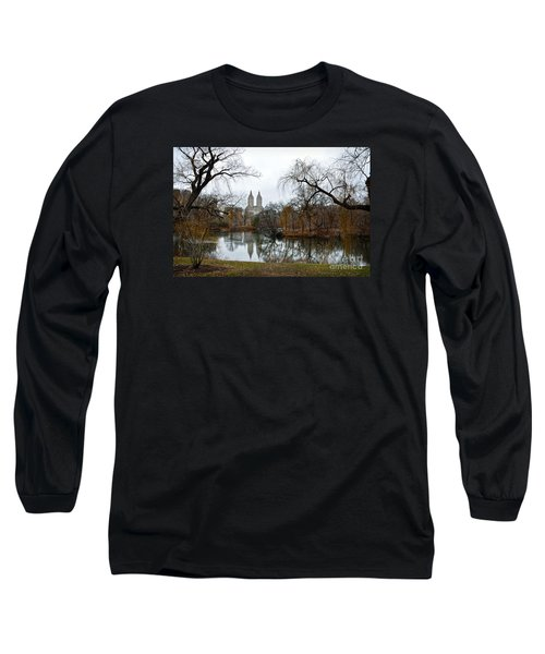 Central Park And San Remo Building In The Background Long Sleeve T-Shirt