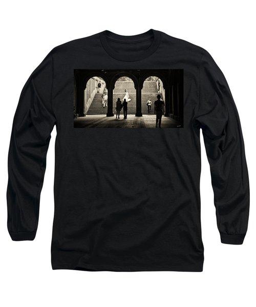 Central Park Bride Long Sleeve T-Shirt by Madeline Ellis