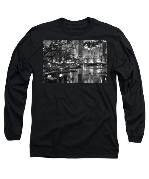Central Park Lake Night Long Sleeve T-Shirt