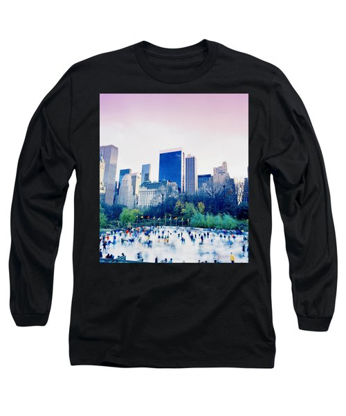 New York In Motion Long Sleeve T-Shirt by Shaun Higson