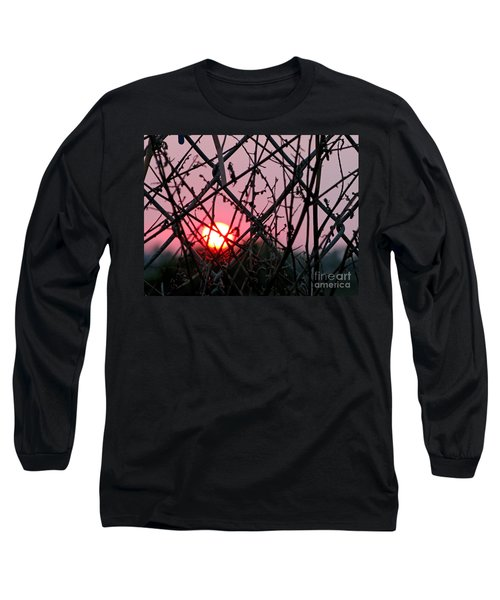 Long Sleeve T-Shirt featuring the photograph Chain Link Sunset by Jennie Breeze