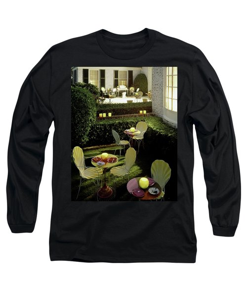 Chairs And Tables In A Garden Long Sleeve T-Shirt