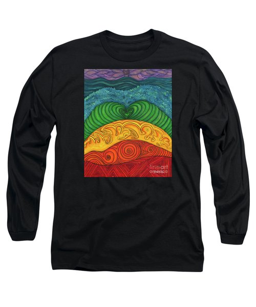 Long Sleeve T-Shirt featuring the painting Chakra Ascension by Deborha Kerr