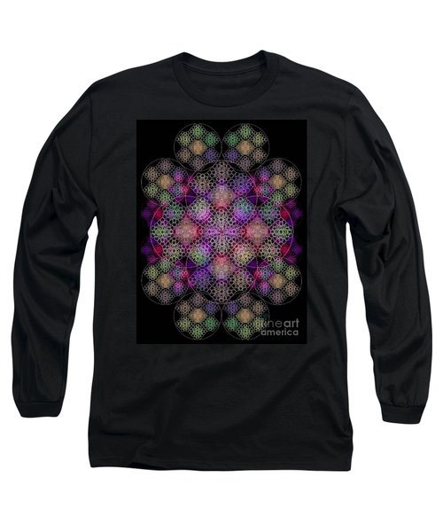 Chalice Cell Rings On Black Dk29 Long Sleeve T-Shirt by Christopher Pringer