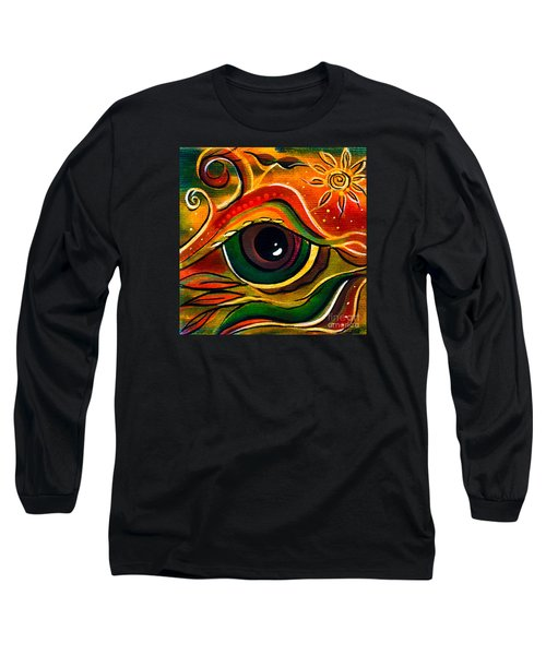 Long Sleeve T-Shirt featuring the painting Charismatic Spirit Eye by Deborha Kerr