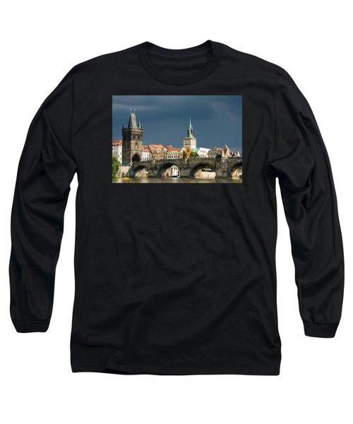 Charles Bridge Prague Long Sleeve T-Shirt by Matthias Hauser