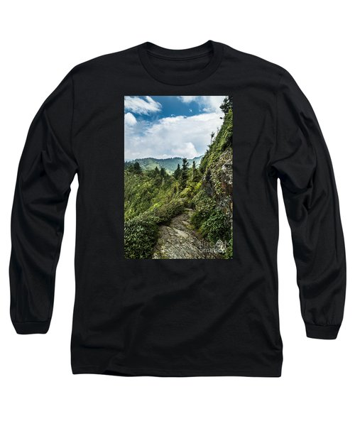 Long Sleeve T-Shirt featuring the photograph Charlies Bunion Trail by Debbie Green