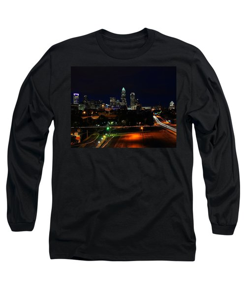 Charlotte Nc At Night Long Sleeve T-Shirt