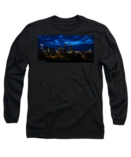 Charlotte North Carolina Panoramic Image Long Sleeve T-Shirt