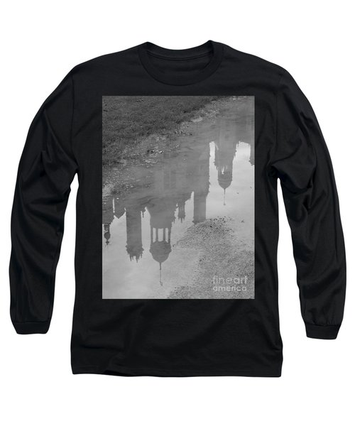 Long Sleeve T-Shirt featuring the photograph Chateau Chambord Reflection by HEVi FineArt