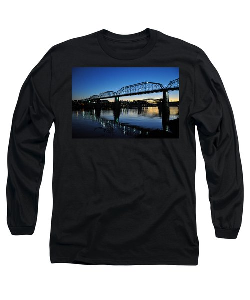 Tennessee River Bridges Chattanooga Long Sleeve T-Shirt
