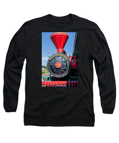 Chattanooga Choo Choo Steam Engine Long Sleeve T-Shirt by Susan  McMenamin