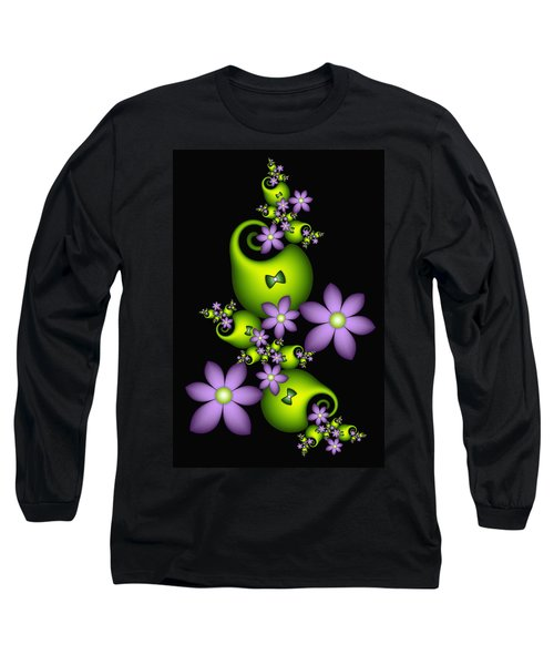 Long Sleeve T-Shirt featuring the digital art Cheerful by Gabiw Art