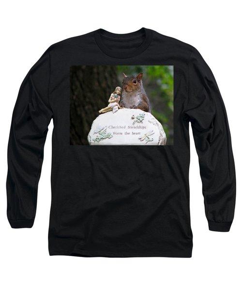 Long Sleeve T-Shirt featuring the photograph Cherished Friendships by John Haldane