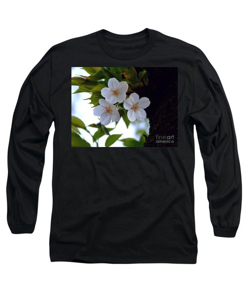 Long Sleeve T-Shirt featuring the photograph Cherry Blossom by Andrea Anderegg