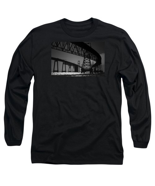 Chesapeake Bay Bridge At Annapolis Long Sleeve T-Shirt by Skip Willits