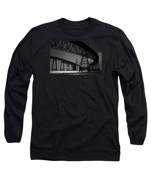 Chesapeake Bay Bridge At Annapolis Long Sleeve T-Shirt