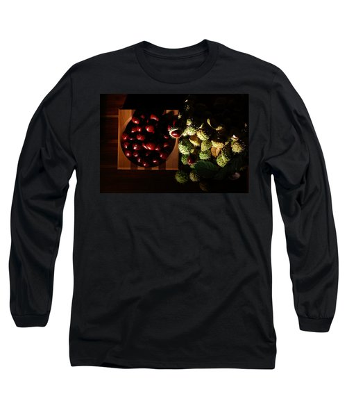 Long Sleeve T-Shirt featuring the photograph Chestnuts by David Andersen