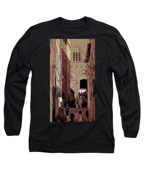 Chiaroscuro Siena  Long Sleeve T-Shirt by Ira Shander