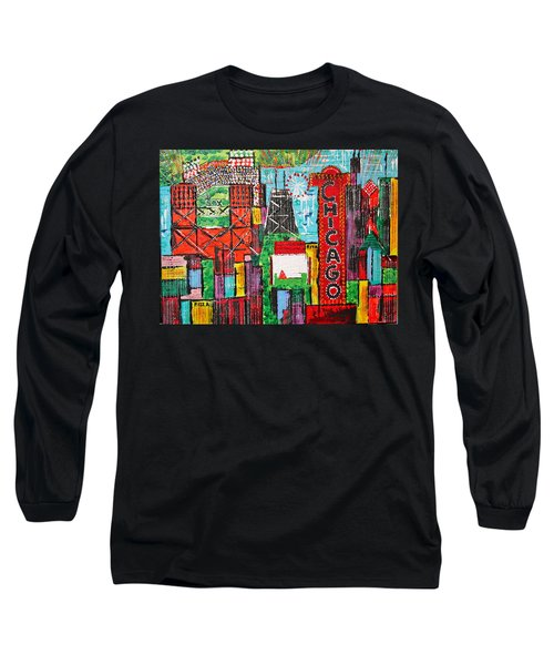Chicago - City Of Fun - Sold Long Sleeve T-Shirt by George Riney