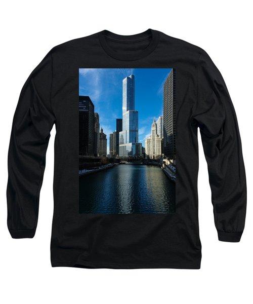 Long Sleeve T-Shirt featuring the photograph Chicago Blues by Georgia Mizuleva