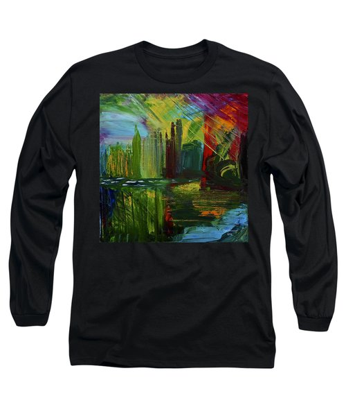 Chicago City Scape Long Sleeve T-Shirt by Dick Bourgault