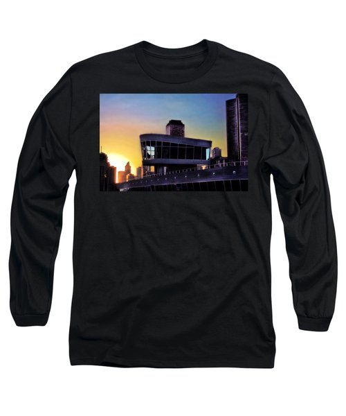 Long Sleeve T-Shirt featuring the photograph Chicago Lock Tower by John Hansen