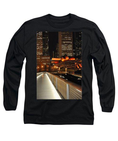 Chicago Millenium Park Long Sleeve T-Shirt by Steve Archbold