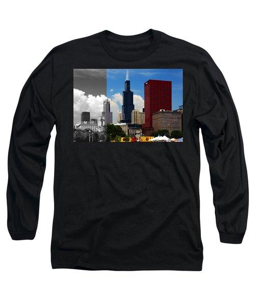Chicago Skyline Sears Tower Long Sleeve T-Shirt