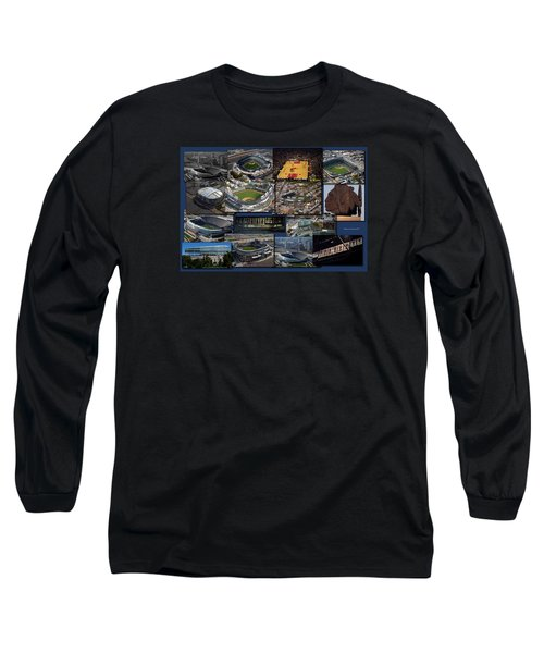 Chicago Sports Collage Long Sleeve T-Shirt by Thomas Woolworth