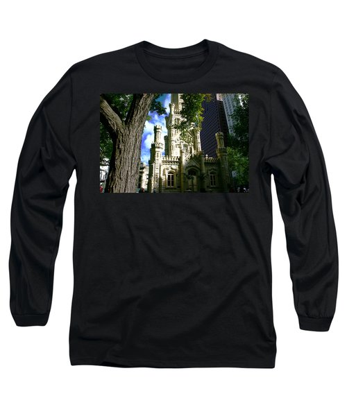 Chicago Water Tower Castle Long Sleeve T-Shirt
