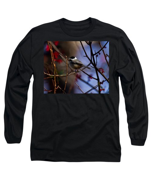 Long Sleeve T-Shirt featuring the photograph Chickadee by Robert L Jackson