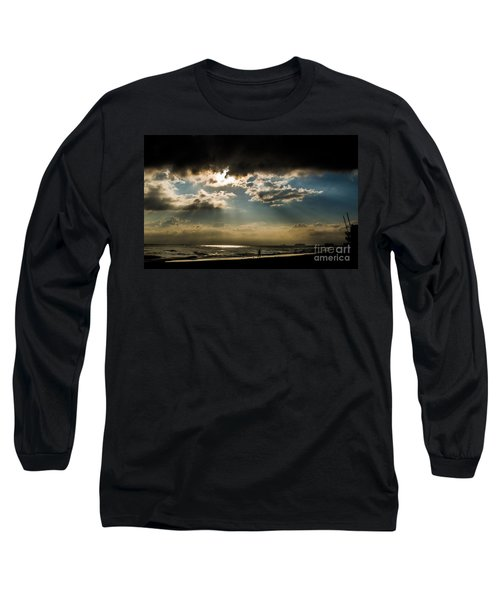Long Sleeve T-Shirt featuring the photograph Chick's Beach Morning by Angela DeFrias